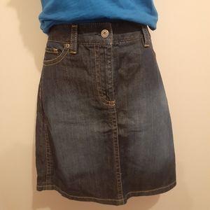 👡3 for $25👚Ann Taylor Denim Skirt 🇨🇦 Petite 12